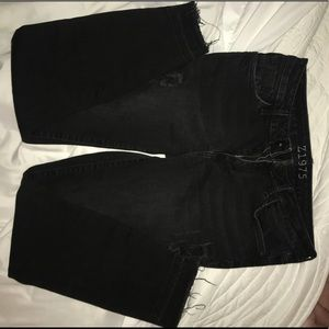 Denim - Mid-Rise Black Denim Jeans